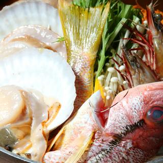 毎日直送される新鮮な海産物!