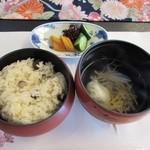 絶景露天風呂の宿 銀波荘 - 御椀・御飯・香の物