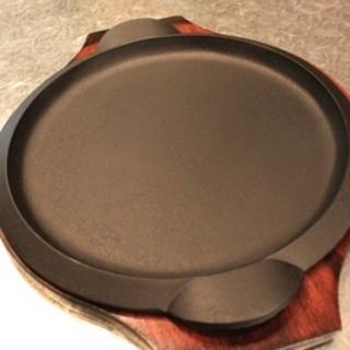 南部鉄器の鉄板皿でアツアツをお召し上がりください