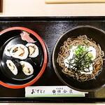 丹波旬彩 田舎家 - 料理写真:霧いもやまかけそば、巻き5貫セット 900円