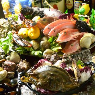 空輸で届く新鮮な魚介!日替わりメニューで旬の味をどうぞ