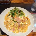 サントラップ - お食事パンケーキ♡ベーコン&チーズ!