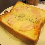 カルディーズクラブコーヒー - ハムチーズトースト 340円