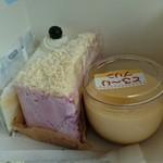 30958734 - (左から)チーズケーキ、ブルーベリーケーキ、とろ~りプリン