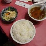 吉華 - ライス、スープ、お新香