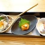 稲田屋 - 酒の肴三種盛り合わせ1,200円(税込)