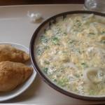 野口製麺 - お稲荷さんと卵とじうどん