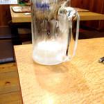 千寿 - (2014.09)キンキン冷えたビールは撮る前に無くなってしまいます♪