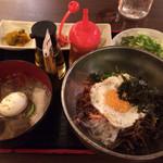 豚田馬場 - 水冷麺➕ビビンバ 1000円