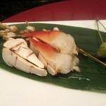 30971302 - 貝と松茸の炙り焼き