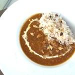 カフェ ダスティアーツ - 十八穀米のキーマカレー