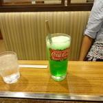 お好み焼ふそう - クリームソーダ♪:250円