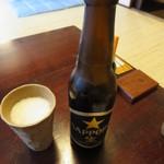 はん亭 - ビール 小瓶(サッポロ) 400円
