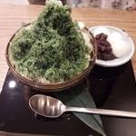 スカラベ別邸 - 2014/6抹茶とあずきのかき氷650円 白玉トッピング50円