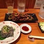 凪 - 生シラス イカの漬け焼き