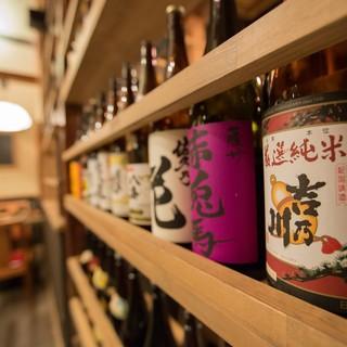 ◆店主厳選のこだわり焼酎&日本酒!