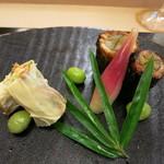 京料理かねき - 穴子の東寺巻きと八幡巻き