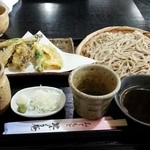 里しょう庵 - 料理写真:野菜天もり蕎麦 1000円