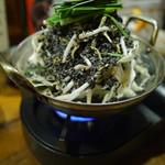 吉祥寺 みかづき酒房 - 黒もつ鍋(小)880円