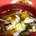 京城苑 - 卵スープはシンプルな味(2014.09)
