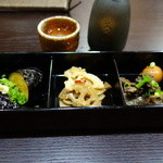 東風庵 - 「大皿料理3品盛合せ」