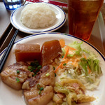 猿Cafe - ドリンク付き日替り(500円)  (2014.09現在)