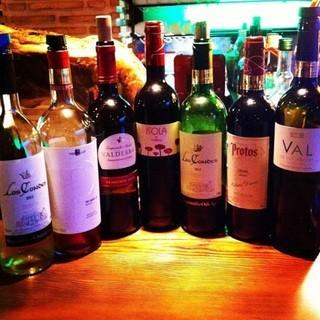 スペインワインやシェリー酒を60種類以上ご用意