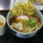 まつり茶屋 - かき揚げ天水沢うどん750円