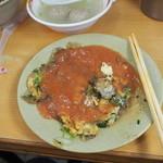 天天利美食坊 - 鶏蛋蚵仔煎(牡蠣のお好み焼き風)