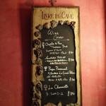 Rue Favart - 黒板メニューのワイン