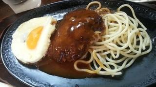 クロンボ - Eセット(クロンボ定食)の目玉焼きハンバーグ