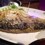 31017158 - 鯖塩焼き定食 ¥750 の鯖塩焼き