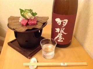 個室居酒屋 呑蔵 - 氷見牛と日本酒セット