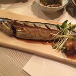 魚菜 ことわ - 2000円コースの秋刀魚 脂がのって美味しい〜♫
