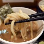 自家製麺つけそば 九六 - 201409 自家製の極太麺は噛み応えあるもっちり系