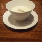 肉匠なか田 - ジャガイモの冷製スープ