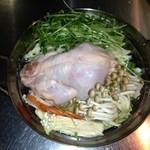 やきとり鳥花 - 丸鶏の水炊き。要予約!