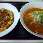 ロッキー - 2014/09/27 Cランチ(担々麺&麻婆丼)