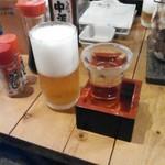 日本鮮魚甲殻類同好会 - 喉が渇いたからエビスビールと冷酒