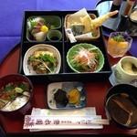 湯野温泉 紫水園 - よくばり御膳 1600円 温泉とセット 3回目