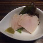 わや - お通しの鶏ハムが美味しかった。350円