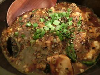 ゆるり 中華食堂 癒食同源 - こだわり麻婆豆腐茄子 660円。
