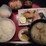 佳倉 - 貝汁朝食 609円