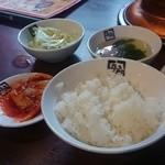 31040755 - ライス・スープ・やみつき塩キャベツ・キムチ