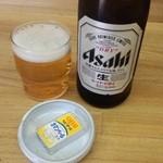 手打ち 武蔵野うどん さんきん - 中瓶ビール+お通し
