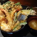 炙り家 ええねん - がち盛り天丼セット880円 ※2014年9月