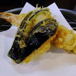 天春 - 天ぷら#1/3(昼定食の天定)