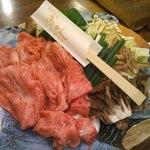 旬菜酒肴 みかん - 【夜】黒毛和牛のすき焼(2014/09/27)