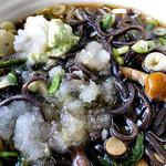 31045898 - 冷し山菜そば(大盛り;ダイコンおろし・ワサビが良く合います)