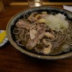 そば処 一庵 - 料理写真:肉蕎麦(冷)